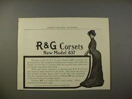 1903 R&G Corsets Model 837 Corset Ad - NICE! - $14.99
