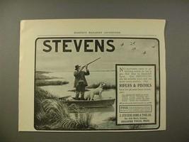 1902 Stevens Shotgun Gun Ad - Geese & Hunting Dog - $14.99