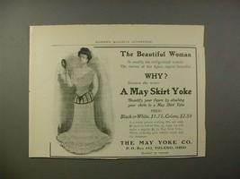 1902 May Skirt Yoke Ad - The Beautiful Woman - $14.99