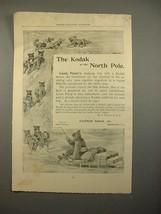 1893 Kodak Camera Ad - Lieut. Peary, North Pole - $14.99