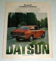 Vintage Datsun 1200 Sport Coupe Car Ad - Miniature - $14.99