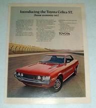 1971 Toyota Celica ST Car Ad - Some Economy Car! - $14.99