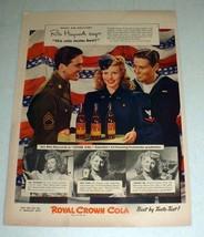 1943 WWII RC Royal Crown Cola Soda Ad, Rita Hayworth - $14.99
