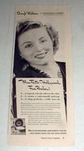 1943 Max Factor Face Powder Ad w/ Cheryl Walker - $14.99