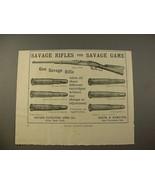 1897 Savage .303 Carbine Rifle, Gun Cartridges Ad! - $14.99