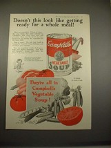 1925 Campbell's Vegetable Soup Ad - A Whole Meal! - $14.99