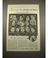 1930 Lux Soap Ad w/ 14 Movie Stars - Joan Crawford! - $14.99