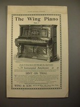 1896 Wing Style 7 Piano Ad! - $14.99