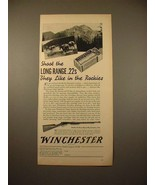 1938 Winchester Model 62 Rifle Gun Ad - Like in Rockies - $14.99