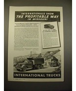 1938 International Harvester Dump Truck Ad! - $14.99