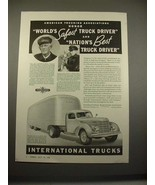 1938 International Harvester D-50 Truck Ad! - $14.99