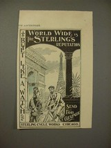 1897 Sterling Bicycle Ad - Built Like a Watch! - $14.99