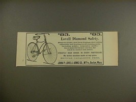 1890 Lovell Diamond Safety Bicycle Ad - NICE! - $14.99