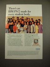1990 IBM PS/2 Computer Ad - For Every Student Body - $14.99