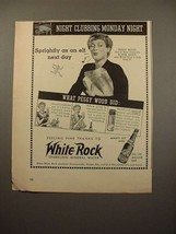 1942 White Rock Water Ad - Peggy Wood! - $14.99
