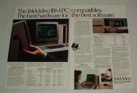 1984 TeleVideo Tele-PC, XT, TPC II Computer Ad! - $14.99