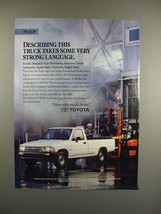 1991 Toyota One Ton Truck Ad - Strong Language! - $14.99
