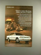 1990 Toyota Camry Car Ad - No Place Like Home! - $14.99