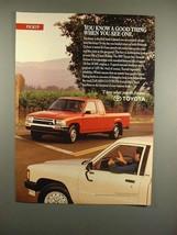 1993 Toyota 4x2 Xtracab Deluxe Truck Ad! - $14.99