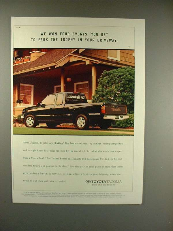 Primary image for 1996 Toyota Tacoma 4x2 Truck Ad - Park the Trophy!