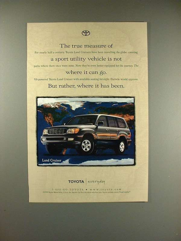 Primary image for 1999 Toyota Land Cruiser SUV Ad - True Measure!