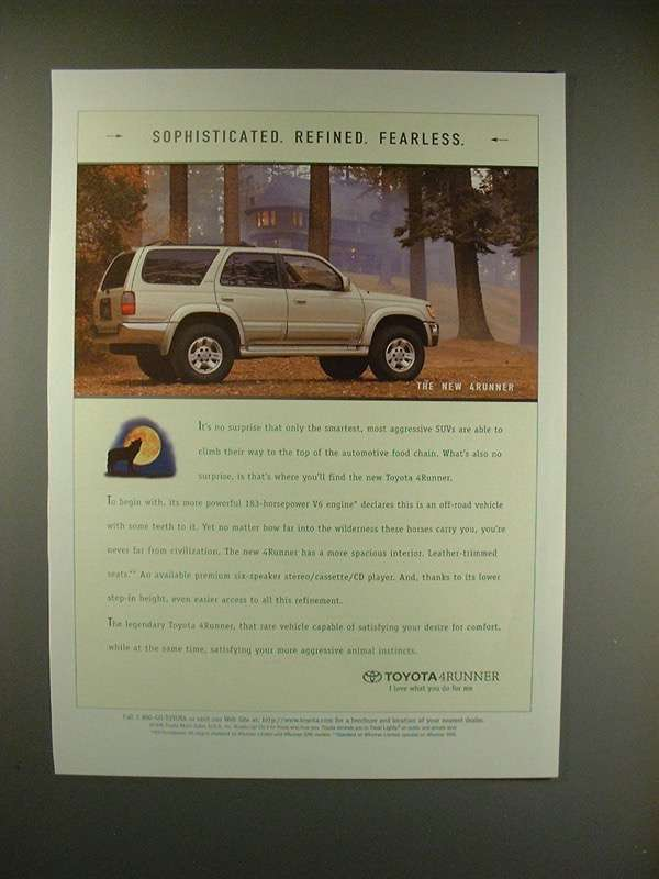 Primary image for 1996 Toyota 4Runner SUV Ad - Sophisticated!