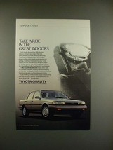 1989 Toyota Camry Car Ad - Ride the Great Indoors! - $14.99