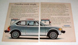 1978 Honda Civic CVCC Hatchback Car Ad - Simple! - $14.99