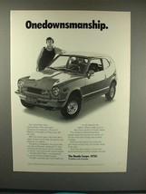 1972 Honda Coupe Car Ad - Onedownsmanship! - $14.99