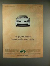 2000 Toyota Prius Car Ad - It's Gas, It's Electric! - $14.99