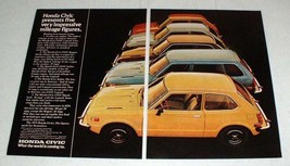 1975 Honda Civic CVCC Wagon, Sedan, Hatchback Ad! - $14.99