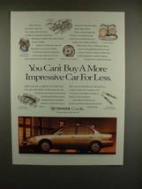 1993 Toyota Corolla Car Ad - More Impressive! - $14.99