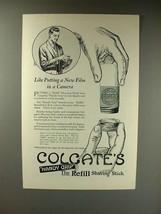 1923 Colgate's Shaving Stick Ad - Like New Film - $14.99