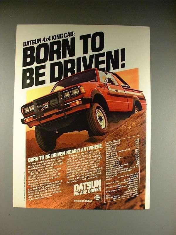 1983 DATSUN 4x4 KING CAB CLASSIC VINTAGE ADVERTISEMENT