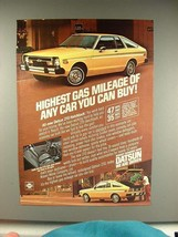 1979 Datsun 210 Hatchback Car Ad - Highest Gas Mileage - $14.99