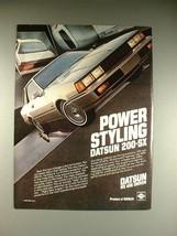 1982 Datsun 200-SX Car Ad - Power Styling! - $14.99