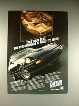 1982 Datsun 280-ZX Car Ad - Take Your Seat! - $14.99