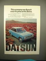 1972 Datsun 1200 2-door Sedan Ad - Economy Car! - $14.99