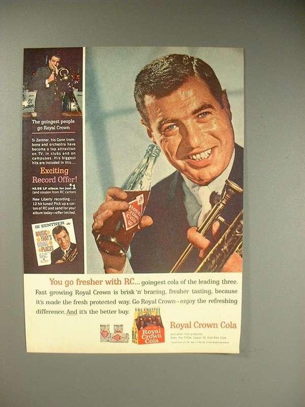 1963 Royal Crown RC Cola Soda Ad - Si Zentner - $14.99
