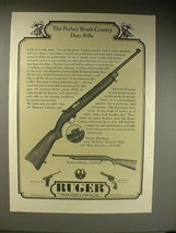 1963 Ruger RS Rifle Ad - Brush-Country Deer - $14.99