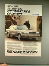1987 Nissan Maxima GXE Car Ad - Smart Side! - $14.99