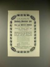 1902 Hamburg-American Line Cruise Ad - If Going Away! - $14.99