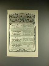 1902 Hamburg-American Line Ad - Grand Cruises! - $14.99