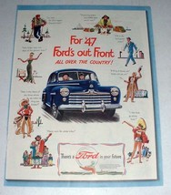 1947 Ford Car Ad - Out Front All Over the Country - $14.99