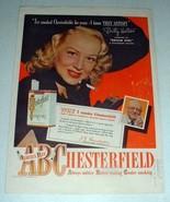 1948 Chesterfield Cigarettes Ad w/ Betty Hutton - $14.99