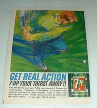 1964 7-Up Soda Ad - 7-up Your Thirst Away - $14.99