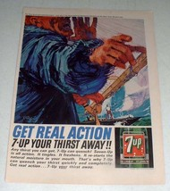 1964 7-Up Soda Ad - Get Real Action! - $14.99