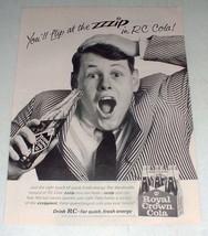 1965 RC Royal Crown Cola Soda Ad - You'll Flip - $14.99
