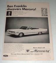 1966 Mercury Park Lane Convertible Car Ad - $14.99