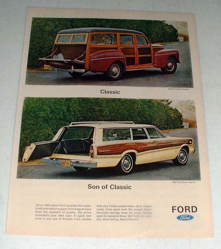 Primary image for 1966 Ford Country Squire Station Wagon Ad!